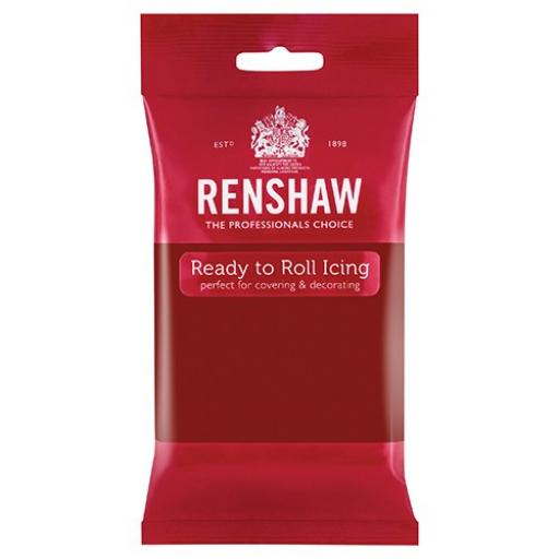 Renshaw Ruby Red Ready to Roll Sugar Paste - 250g