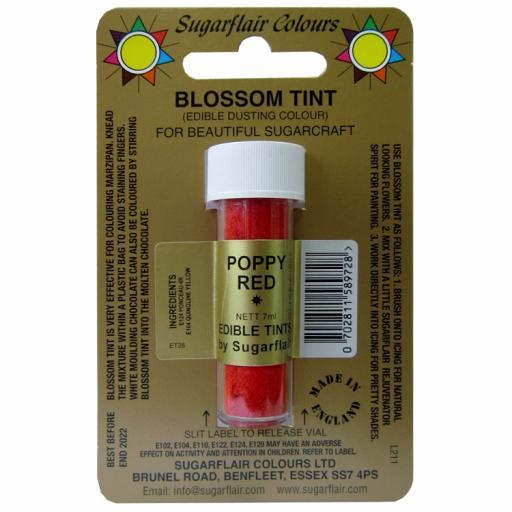 Sugarflair Blossom Tint Poppy Red -7ml