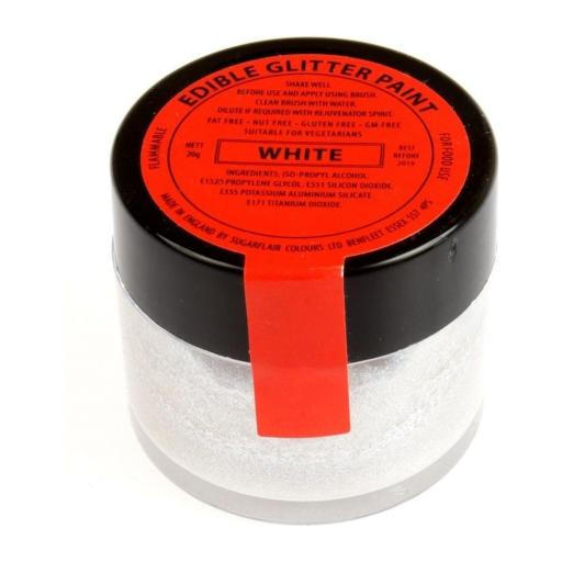 Edible Glitter Paint 20g White