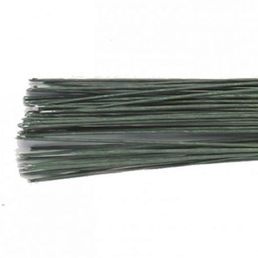 Dark Green Floral Wire - 22g