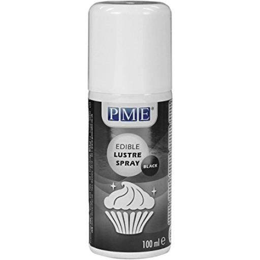 PME Edible Lustre Spray Black 100 ml