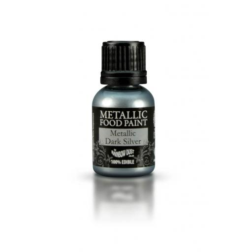 Rainbow Dust Metallic Dark Silver Paint-25ml