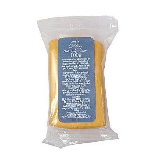 Culpitt Metallic Gold Sugar Paste 100g