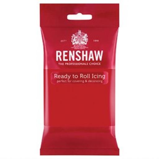 Renshaw Poppy Red Ready to Roll Sugar Paste-250g