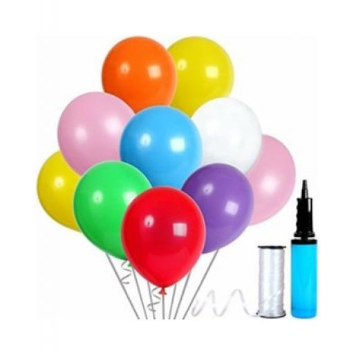 "12"" Latex Balloons Pastel Coloured Assorted 50pcs"