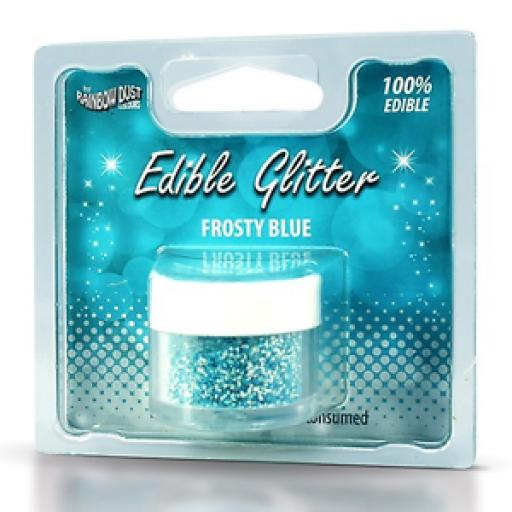 Rainbow Dust Edible Glitter Frosty Blue