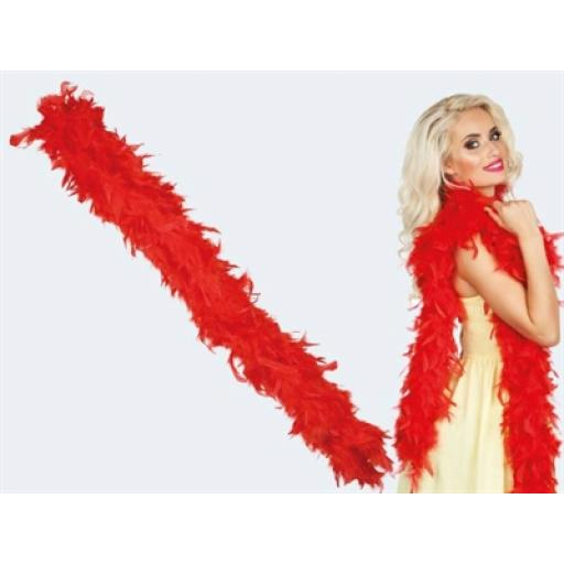 Red Feather Boa 180cm