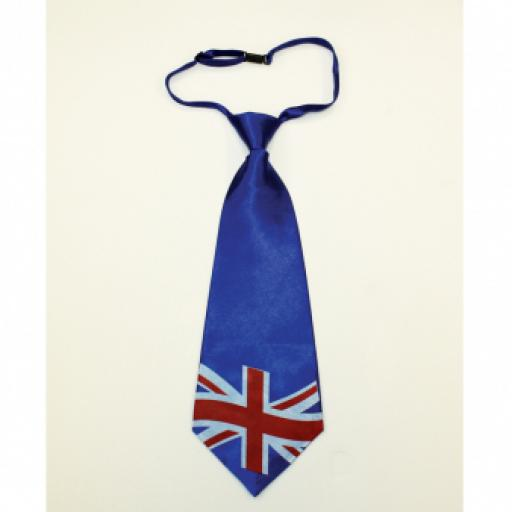 Great Britain Adult Union Jack Fabric Jumbo Tie