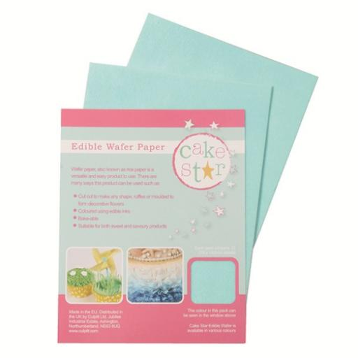 Edible Wafer Rice Paper Cake Star -Blue-12 sheets/pack
