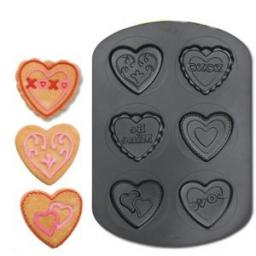Wilton 6 Cavity Valentine's Day Pan