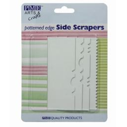 PME Patterned Edge Side Scrapers - Pack 4
