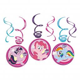 My Little Pony Hanging Swirl Decorations pack of 6 60cm each