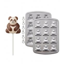 Wilton 12 Cavity 3-D Mini Bear Multi-Cavity Pops Cake Pan