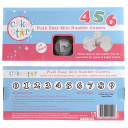 Push Easy Mini Numbers Cutters