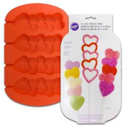 Wilton -Stacked Hearts-4 Cavity Silicone Mold