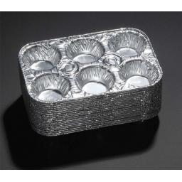 6 Cavity Muffin -Disposable Aluminium Pan