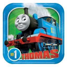 Thomas & Friends Square Paper Plates 18cm 8ct
