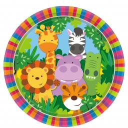 Jungle Friends Paper Plates 23cm