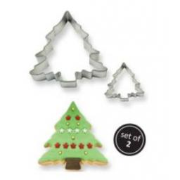 PME Christmas Tree 2 Metal Cutters Set