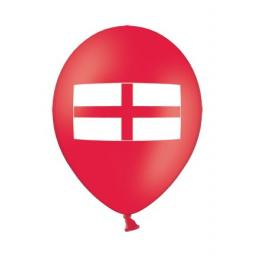 "50pcs 12"" red balloons printed on 2 sides with the St George Cross"