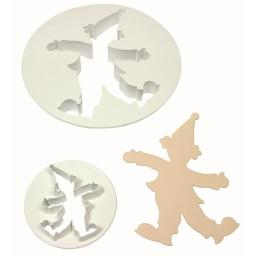 PME Clown Plastic Icing Cut out Cutters Set