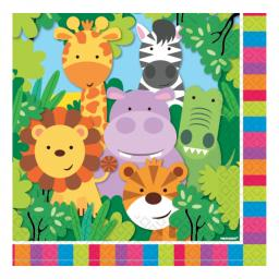 Jungle Friends Luncheon Napkins 33cm