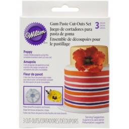 Wilton Gum Paste Cut Outs-Poppy