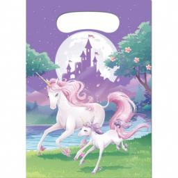 Unicorn Fantasy Plastic Party/Loot Bags 8pcs