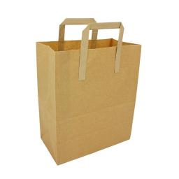 10 Brown Paper Bag with Handle 30x25x14 cm