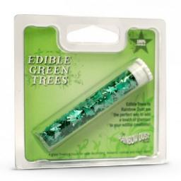 Edible Glitter Shape Green Trees-2g