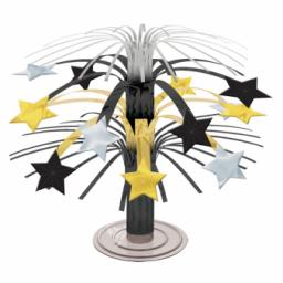 Hollywood Black & Gold Stars Cascade Centrepieces 19cm
