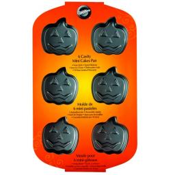 Wilton 6 Cavity Jack-O-Lanterns Mini Cakes Pan