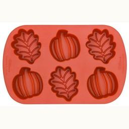 Wilton Silicone Mini Leaf and Pumpkin Mold