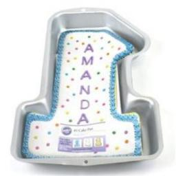 Wilton Number 1 Cake Pan