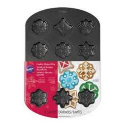 Wilton 12-Cavity Snowflakes Mini Cookie Pan