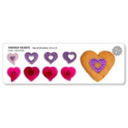 Jem Fantasy Hearts - Set of 4 Embossing Cutters