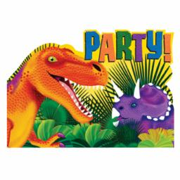 Prehistoric Party Postcard Invitations & envelopes 8 set Includes: 8 inv, 8 envelopes, 8 seals, 8 save the date stickers