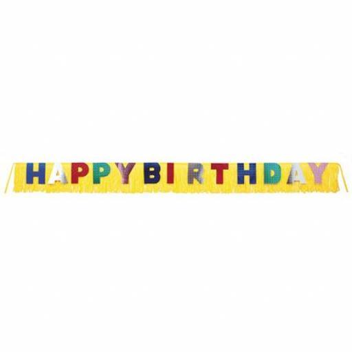 Happy Birthday Giant Fringe Banner 3m