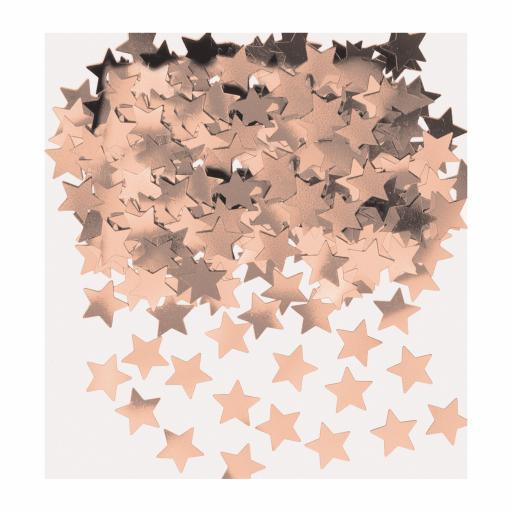 Stardust Rose Gold Star Shape Confetti 14g