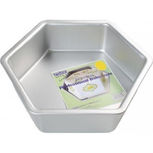 Pme Hexagon Cake Pan 12 Inch x 3 Inch