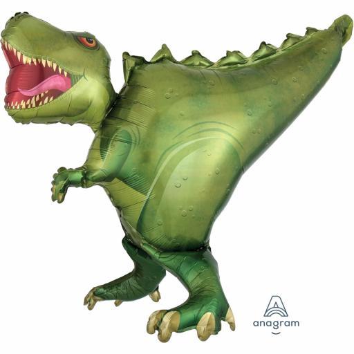 "T-Rex / Dinosaur Ultrashape Foil Balloon 36""/91cm w x 30""/76cm"