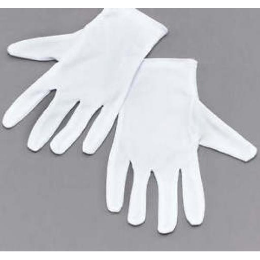 Childrens Boys/ Girls White Gloves
