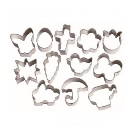 Wilton Easter 12 Mini Metal Cookie Cutter Set
