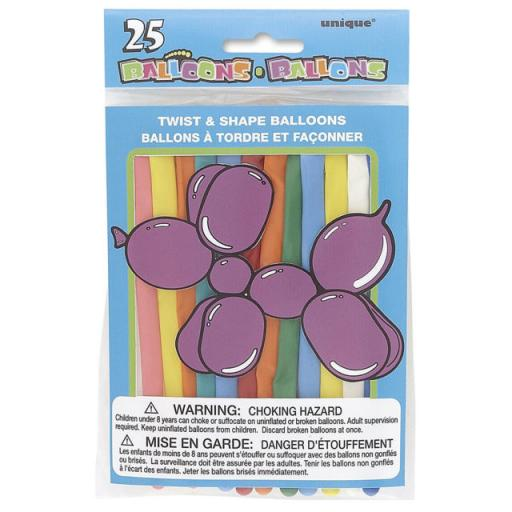 25pcs Assorted Colour Modelling Balloons