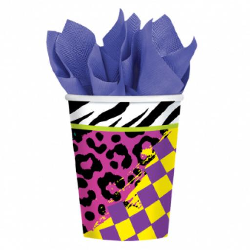 Totally 80s Paper Party Cups 266ml 8pcs