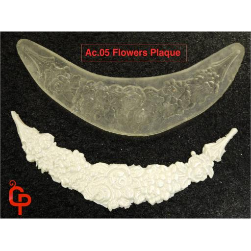 Rosgar Flower Plaque Mould