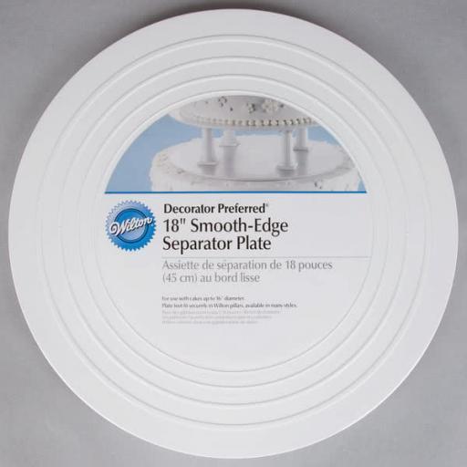 "Wilton Smooth-Edge Cake Separator Plate 18"""