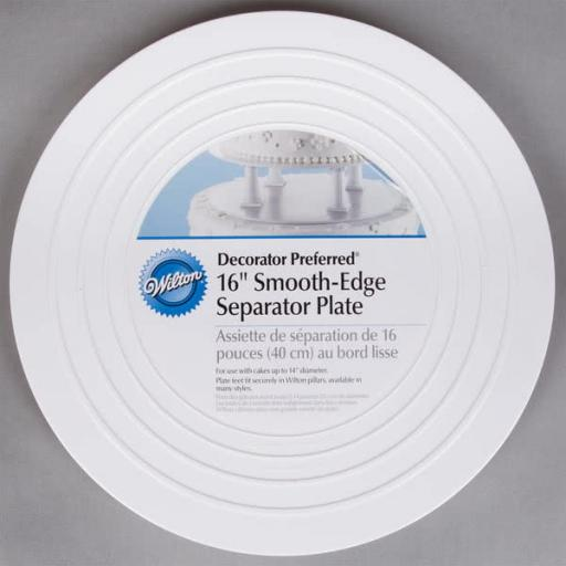 "Wilton Smooth-Edge Cake Separator Plate 16"""