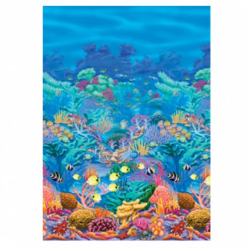 Underwater Friends Coral Reef Room Scene Setter 1pc 12.20m