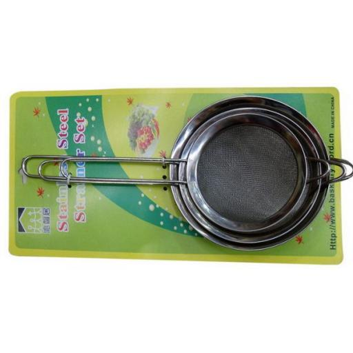 Stainless Steel Food Strainer Set 3/set